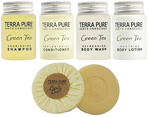 Terra Pure Green Tea All-In-Kit Hotel/Vacation Rental Amenities Set (150 pcs) by Terra Pure (Image #5)