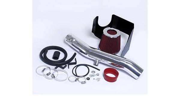 BLACK RED fit 2006-2011 LEXUS IS350 3.5 3.5L V6 HEATSHIELD AIR INTAKE KIT