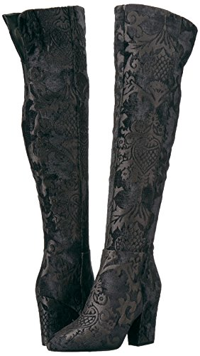 Mujeres Botas Black Fabric West Talla Nine Cw6vWgx5S