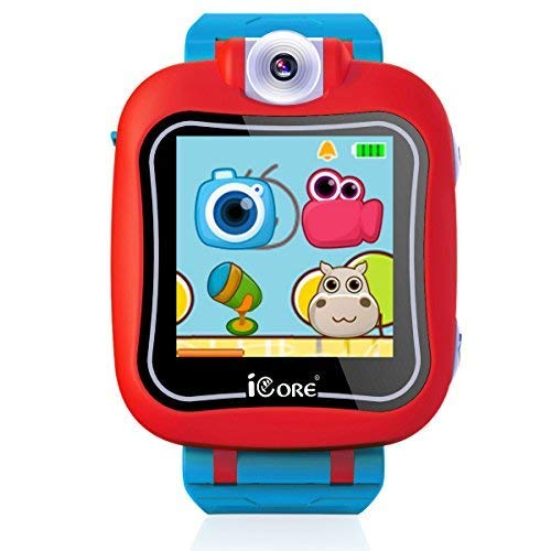 iCore Durable Kids Smartwatch, Electronic Child Smart Watch Video Games, Children Digital Tech Watches, Touch Screen Wearable Watches Learning Timer Alarm Clock Camera for Girls Boys by iCore (Image #2)