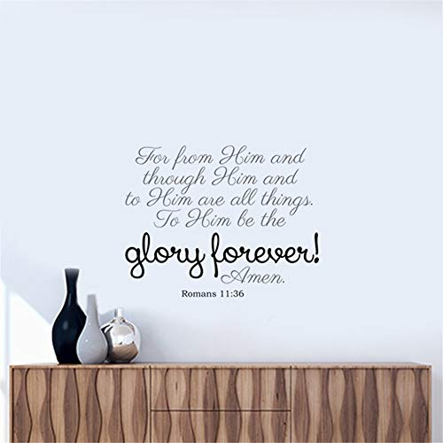 Mcdeog Wall Sticker Lettering Quotes and Saying All Thing to Him Be The Glory Forever (In All Things Give Glory To God)