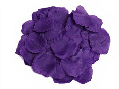 EMAXELER [Broken Girls Flowers]1000pcs Blue Purple Silk Rose Flower Petals for Wedding Table Confetti Bridal Party Flower Girl Decoration 1000pcs Blue Purple]()