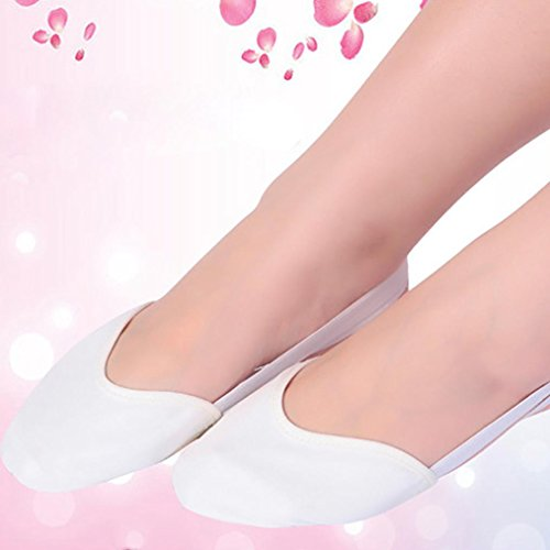 Leather ballet White Rhythmic Slippers Dance Sole Gymnastics shoes pointe Shoes hunpta Dance Half Lyrical ZxqwIfFHf