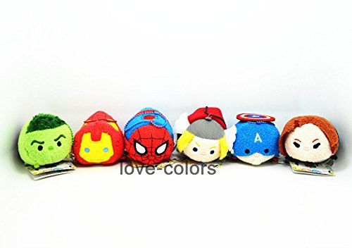 Lot 6 x Iron Man Hulk Thor Captain America The Avengers Tsum Tsum plush Toy Doll (Suits Ninja Body Armor)