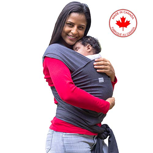 Maman Kangourou Baby Wrap Carrier – Stretchy Baby Sling for Infants – Gray