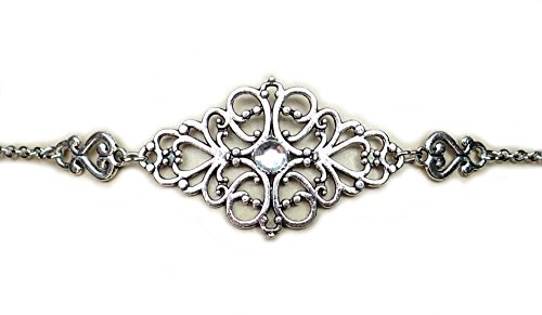 - Moon Maiden Jewelry Crystal Clear Elven Silver Filigree Circlet Headpiece
