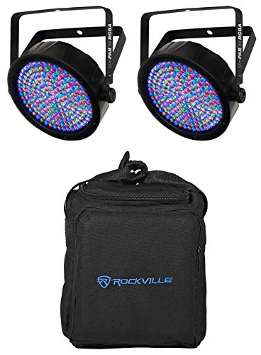 - Package: (2) Chauvet SlimPAR 64 RGBA Compact DMX LED Wash Lights + American DJ F2 Par Bag Universal Carry Case Fits 2x Lights With Zippered Front Pocket + Removable Padded Compartment