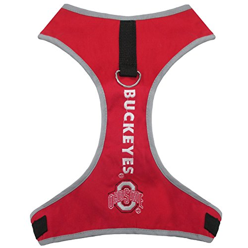 Pets First Collegiate Pet Accessories, Pet Harness, Ohio State Buckeyes, X-Small ()
