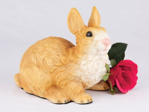 Ever My Pet Companion Bunny Rabbit Pet Urn Brown and White