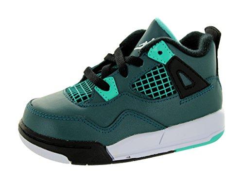 Nike Jordan 4 Retro BT, Zapatos de Primeros Pasos para Bebés Verde / Blanco / Negro (Teal / White-Black-Retro)