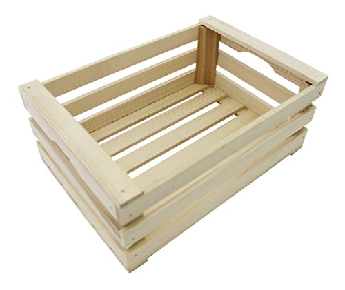 Paderno World Cuisine A4982265 Beechwood Display Crate, Beige by Paderno World Cuisine