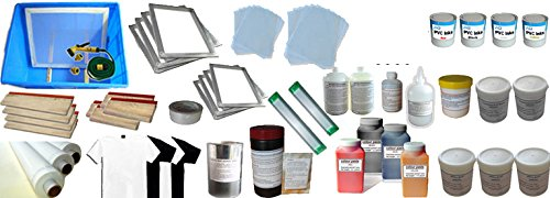 4 Colors Screen Printing Materials Kit by Screen Printing Consumables