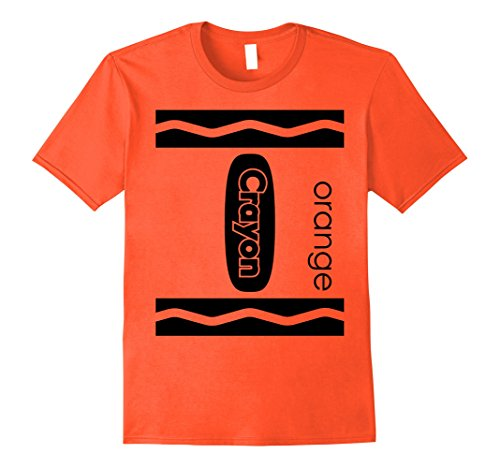 Mens Orange Crayon Halloween Couple Friend Group Costume T-shirt Large Orange (Halloween T Shirts For Couples)