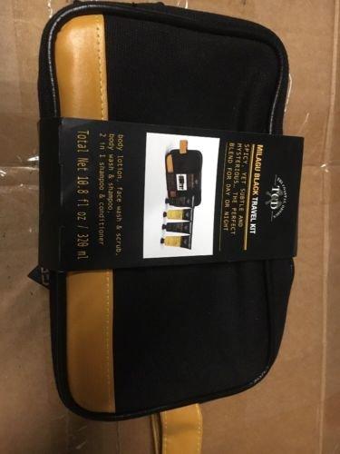 Amazoncom New Tri Coastal Design Mens Travel Kit Milagu Black