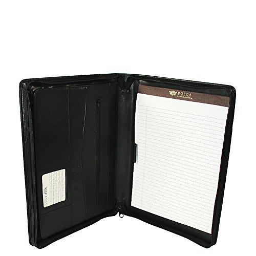 Bosca Zipper Portfolio In Black - Nappa Vitello