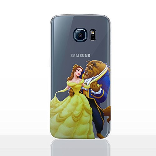 Galaxy S6 Edge Princess Silicone Phone Case/Gel Cover for Samsung Galaxy S 6 Edge (S6 Edge/G925) / Screen Protector & Cloth/iCHOOSE / Beauty and The Beast