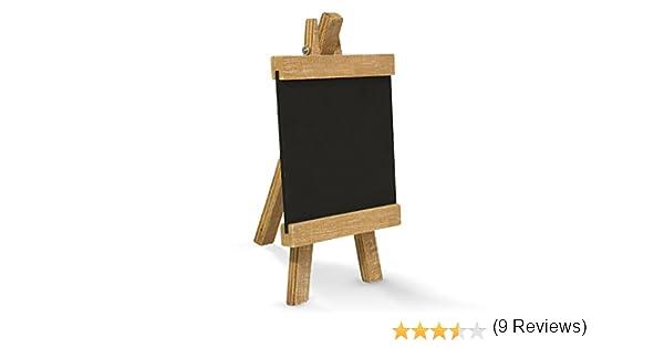 Pequeña pizarra en madera de caballete (10 x 18 cm); como Memo de ...