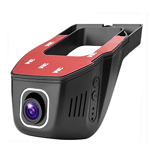 ZJAXING FHD 1080P Dash Cam WiFi Camera Mini Hidden Dashboard for Cars  Driving Recorder DVR with Night Vision, G-Sensor, Parking Mode, WDR,Novatek