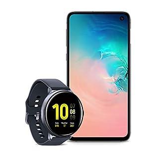 Samsung Galaxy S10e Factory Unlocked Phone with 256GB (U.S. Warranty), Prism White w/Samsung Galaxy Watch Active2 (44mm), Aqua Black - US Version with Warranty