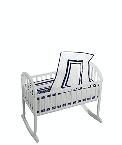 Baby Doll Bedding Soho Cradle Bedding Set with 100% cotton trellis design sheet, (Antique Baby Bedding)