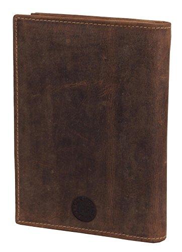 Greenburry Vintage Ausweismappe-Leder I Jagdschein-Etui mit Waidmannsheil Motiv für Jäger - 16,5x1,5x12cm