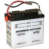 6V 4Ah Batterie 6N4B-2A-3 für Yamaha DT 50 80 125 MX, Simson Schwalbe KR51