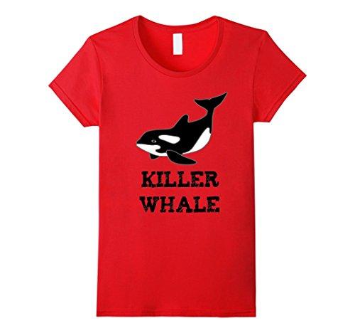Killer Whale Halloween Costumes (Womens Killer Whale Cartoon Halloween Costume T-Shirt Small Red)