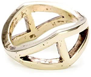 Low Luv by Erin Wasson Gold-Tone Triangle Ring, Size 8