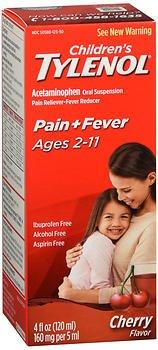 Tylenol Chld Cherry Liq Size 4z Tylenol Children'S Cherry Blast Oral Suspension (Cherry Suspension)