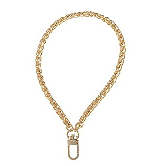 Prettyia Metal Replacement Wrist Strap Chain for Clutch/Wristlet/Purse/Pouch - 20cm - Gold, 20cm