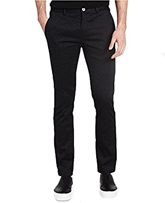 Calvin Klein Men's Slim Fit Tonal Print Stretch Pants