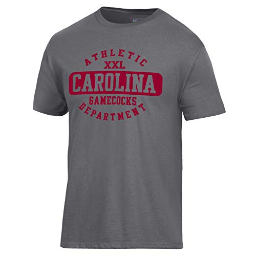 Champion NCAA South Carolina Fighting Gamecocks Men's Ringspun Short Sleeve T-Shirt, Granite Heather, ()