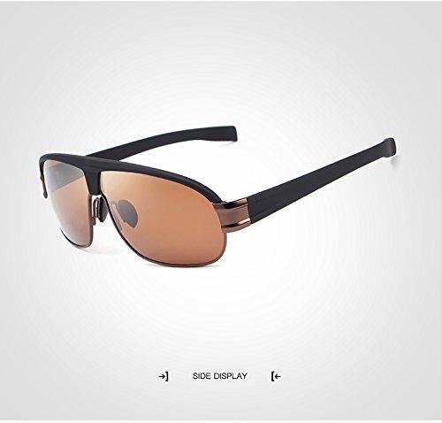 de de de sol gafas con Color gafas calidad de UV400 de de sol hombre adultos para Gafas sol Mujer Gafas alta Gafas ZX sol diseño Polaroid moda de para Brown Brown de sol 7RwO8