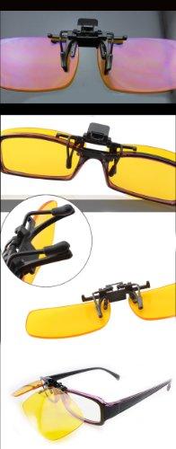 Montura Ordenador Lentes Gafas de Ancho Normales Clip Gafas Protección para Ocular 8010 al usar Amarillas UV contra sobre con Fatiga de frente DUCO 58mm Zqwtf8n