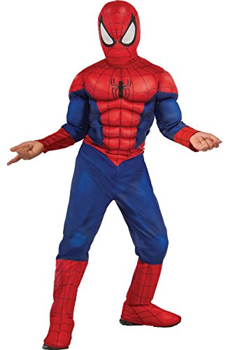 Kids Marvel Costumes (Rubie's Marvel Ultimate Spider-Man Deluxe Muscle Chest Costume, Child Small - Small One Color)