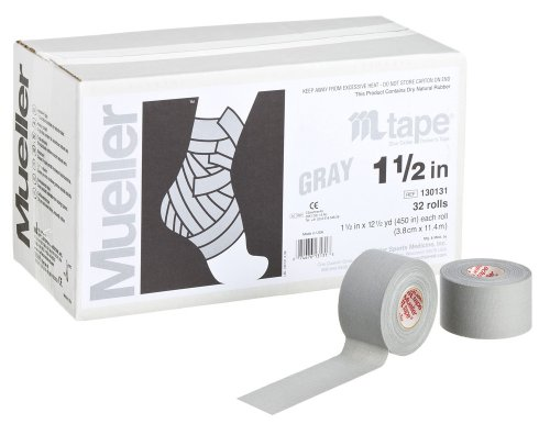 Grey (Gray) Athletic Sports Tape Roll by Warrior