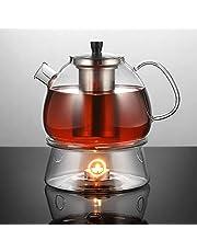 Ecooe 1500 ml dzbanek do herbaty z podgrzewaczem zaparzacz do herbaty szklany i podgrzewacz do herbaty Suit