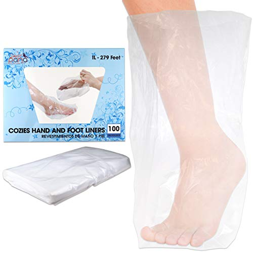 (Ivy L Brand LARGE Size for Paraffin Hand & Foot Protectors Wax Works Thermal Mitt Liner For Pro Cozie Liners Hand or Foot (Quantity: 100 Counts) )