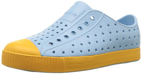 Native Kids Unisex-Kids Jefferson Junior Sneaker, Sky Blue/Beanie Yellow, 2 Medium US Little Kid