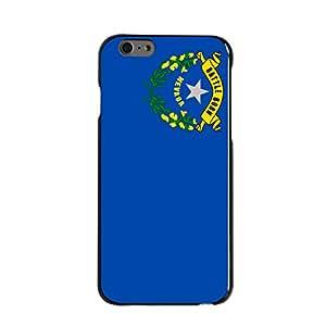 "CUSTOM Black Hard Plastic Snap-On Case for Apple iPhone 6 (4.7"" Model) - Nevada State Flag"