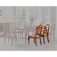 Poundex Dining Chairs with Padded Seats, Set of 2