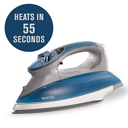 Maytag Speed Heat Steam Iron & Vertical Steamer with Stainless Steel Sole Plate, Self Cleaning Function + Thermostat Dial