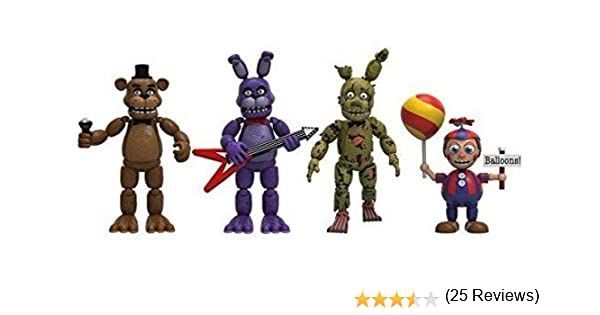 Pack 4 Figuras Five Nights at FreddyS Pack 2: Amazon.es: Juguetes y juegos