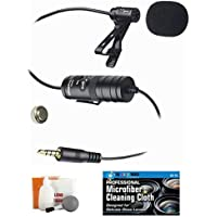 External Lavalier Microphone with 20' audio cable +...