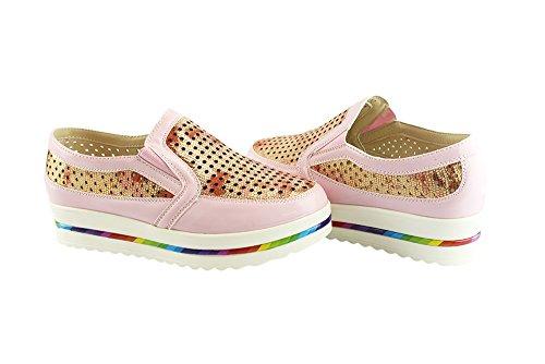 Sneakers Women Rainbow Slip on Platform Breathable Fashion Pink Liyu T0vxqRw0
