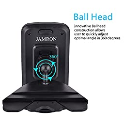 Car Mount,jamron Universal One Touch Installation Cd Slot Smartphone Car Mount Holder Cradle for Iphone 7/7 Plus/6/6 Plus/6s/6s Plus /5s/4,samsung Galaxy S7,motorola and Other Android Phones(black)