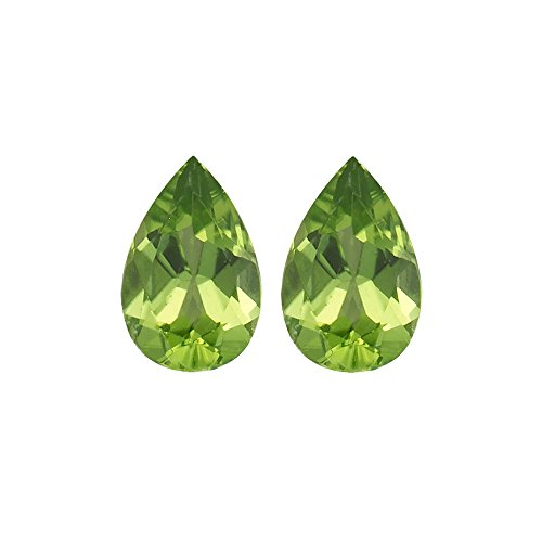 Mysticdrop 1.80-2.35 Cts of 9x6 mm (Pair)-2.50 Cts Loose Peridot Pear-AA