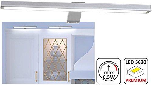 Dimmbare LED Spiegelleuchte Aufbauleuchte - 6,5W 400lm - 370mm - incl. Netzstecker 230V + Ein-Austaster - warmweiß (3000 K)