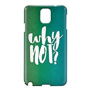 Loud Universe Samsung Galaxy Note 3 3D Wrap Around Why Not Print Cover - Green
