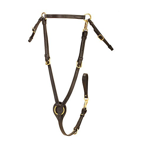 Breastplate Snap - Tory Leather Breastplate with Brass Snaps Horse Ha